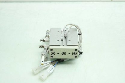 CKD STSB 1620 P73 Pneumatic Guided Air Cylinder T2H Limit Switches 16mm x 20mm Used 172568745389 5