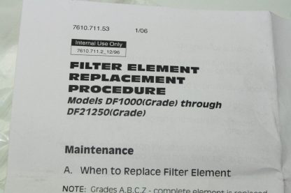 Deltech FE625 WV Y Coalescing Filter Replacement for Air Compressors New 172129102064 5