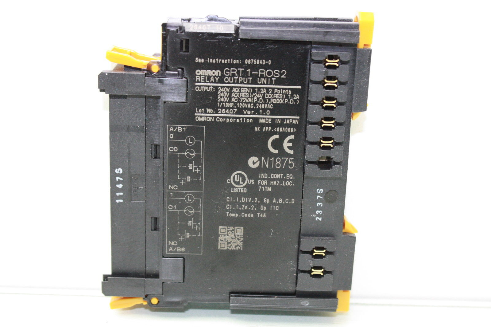 Omron Grt1 Ros2 Relay Output Module Unit Used Motion Constrained Circuit Surplus