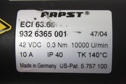 Rietschle Thomas SGP 50 04 Blower Vacuum Pump Papst 42 60V DC Drive Motor Used 171504021641 5