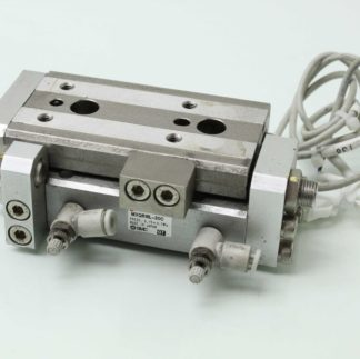 SMC MXQR16L 30C Dual Rod Guided Air Cylinder Slide Table 16mm Bore x 30mm Stroke Used 173488505975