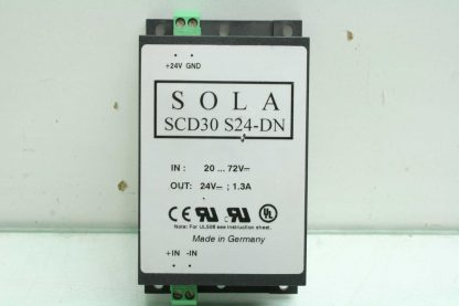 Sola SCD30 S24 DN Switching Power Supply DC DC Converter 30W 24VDC DIN Mount Used 172853181547 15