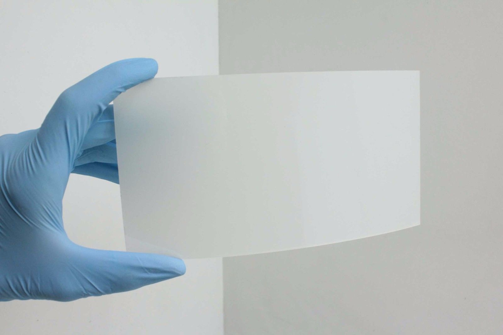 White Smart Film / PDLC Switchable Privacy Glass / Electrochromic Sample 8  x 4