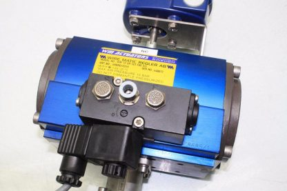 WireMatic AB Actuator WM 12 SR IS0 F05 43 with 2 NPT Stainless Ball Valve Used 181334475868 5
