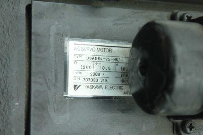 Yaskawa USADED 22 HG11 AC Servo Motor 22kW 105 N m 2000RPM 28mm USAFED Used 172885978855 24