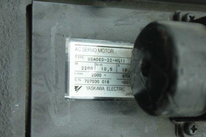 Yaskawa USADED 22 HG11 AC Servo Motor 22kW 105 N m 2000RPM 28mm USAFED Used 172885978855 4