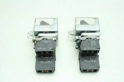 2 Fuji AR22EOL Black 2 Position Maintained Rotary Selector Switches Clear Covers Used 172566204037 16