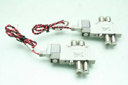 2 SMC SY3120 6LZ C4 F2 Solenoid Valves Used 172887508536
