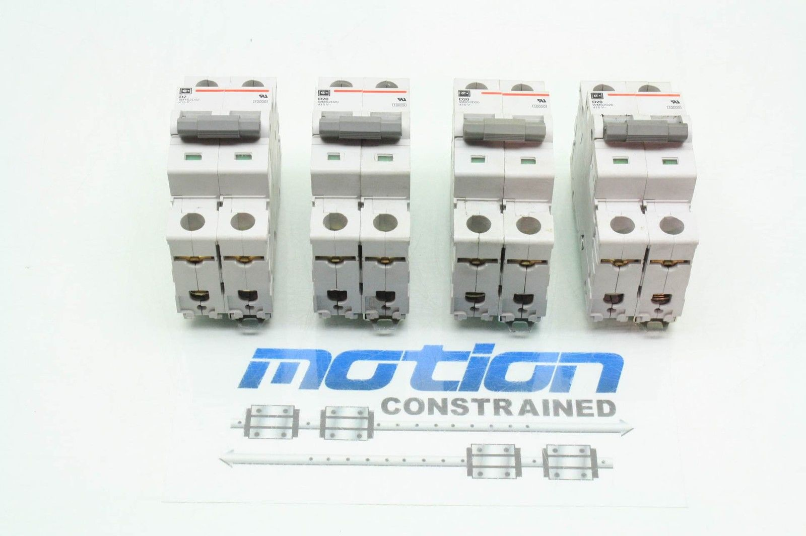 4 Cutler Hammer Wms2d02 Wms2d20 Thermal Magnetic Circuit Breakers Some Use A 2a 20a Used Motion Constrained Surplus