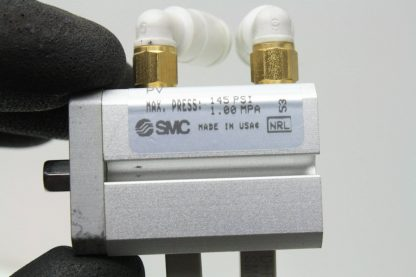 4 SMC CDQSKB12 10D M9 Air Cylinders 12mm Bore x 10mm Stroke w D F8P Switches Used 171343620630 6