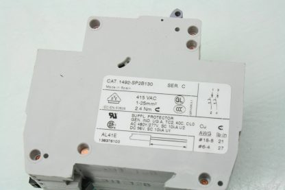 6 Allen Bradley 1492 SP2B130 13A Circuit Breakers 1992 ASPH3 Auxiliary Contact Used 171462965281 6