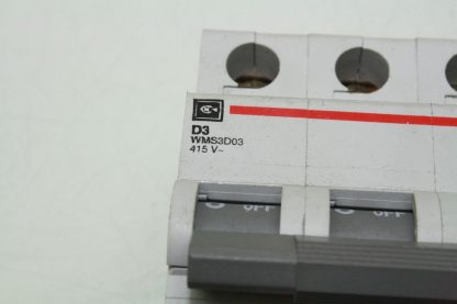 Eaton Supplementary Protector WMS 3D03 Cutler Hammer 3 Pole 3A Trip Used 172129101995 6