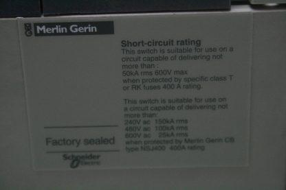 Merlin Gerin INSJ 400 Interpact Circuit Breaker 400A Molded Case w Handle Used 172129196566 6