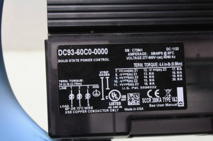 New Watlow DIN a Mite DC93 60C0 0000 Solid State SCR Power Control 55 Amps New other see details 171308789607 6