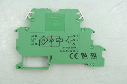 Phoenix Contact DEK REL 24AKT Relay Module 24V ACDC Coil 6mm Width Isolator Used 182409478906 16