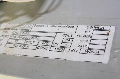 Square D Palmer D40 24 40 Full Voltage Starter 460V 25 Amps Motor Starter Used 171745804096 15