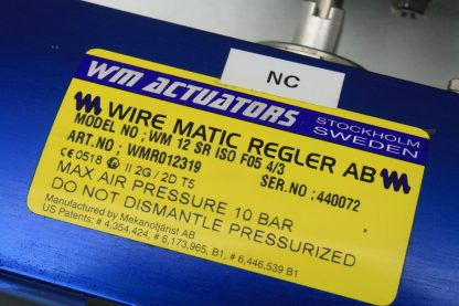WireMatic AB Actuator WM 12 SR IS0 F05 43 with 2 NPT Stainless Ball Valve Used 181334475868 16