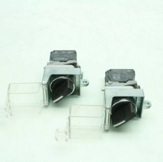 2 Fuji AR22EOL Black 2 Position Maintained Rotary Selector Switches Clear Covers Used 172566204037