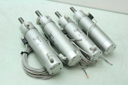 4 SMC CDG1BQ40 100F C73LS Low Friction Air Cylinders 40mm Bore x 100mm Stroke Used 182224466657 10