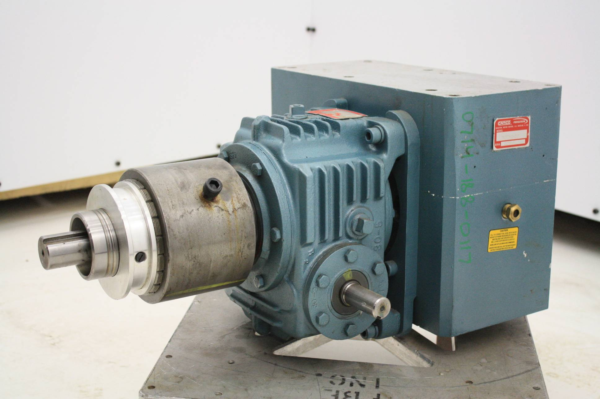 Camco 512p2h40 270 2 Stop Parallel Indexer Drive 40 1 Gear Reducer And Clutch Used Motion Constrained Surplus