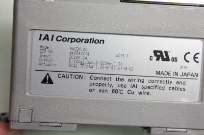 IAI Robo Net RACON 20 Single Axis Robot Linear Actuator Controller Used 182091982615 7