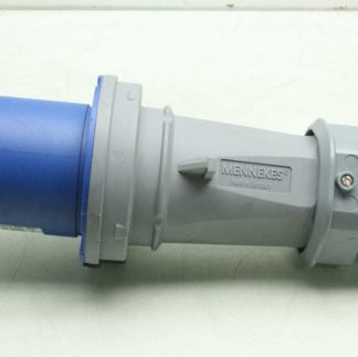 Mennekes ME360P6 1227 Male Watertight Pin Sleeve Plug 60A 3 Wire 250 VAC Used 182853532887