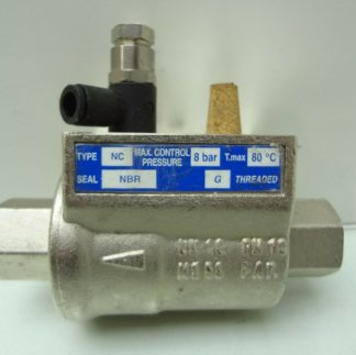 OMAL Automation NC VIP Coaxial Pneumatic Inline Valve 38 BSPP DN10 Used 172199789467