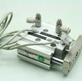 SMC 13 MGPL16 20 Pneumatic Guided Air Cylinder 16mm Bore x 20mm Stroke Used 182738873437