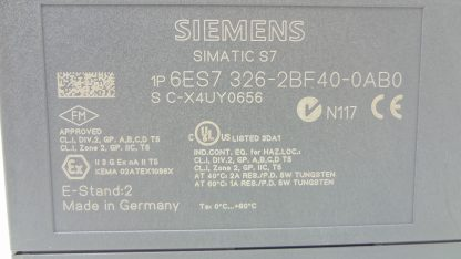 Siemens 6ES7 326 2BF40 0AB0 Safety SM326 Output Module 8 Point Digital Out 24V Used 172199789441 7