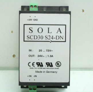 Sola SCD30 S24 DN Switching Power Supply DC DC Converter 30W 24VDC DIN Mount Used 172853181547