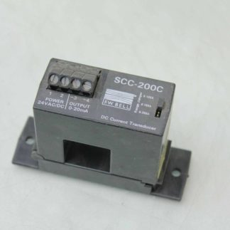 FW Bell SCC 200C DC Current Transducer Analog Output 0 20mA 0 200A Thru Used 182084531338
