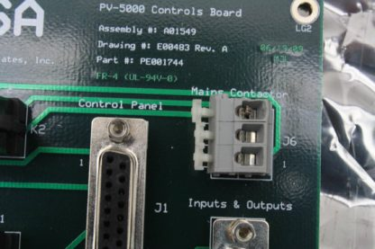 JPSA PV 5000 Laser Scribe Control Board UL 94V 0 Used 171419866298 10