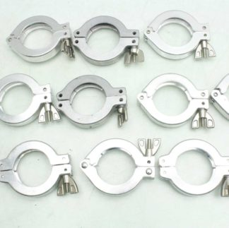 Lot of 10 Aluminum Sanitary Clamps 2 2 Inches Used 173284935158
