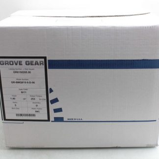 New Grove Gear GR BMQ815 Cast Iron Worm Reducer with Leeson C6T17FC3K 51 Ratio New 172710258328