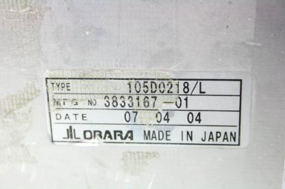 Obara 105D0218L Electric Cylinder Welding Positioner Ball Screw Actuator 160mm Used 171747181408 18