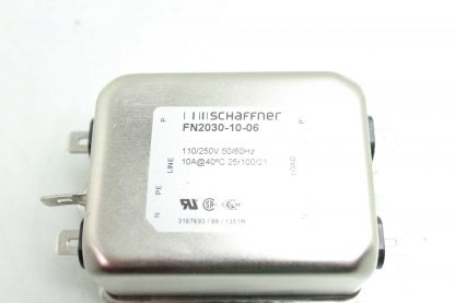 Schaffner FN 2030 10 06 Power Line EMI Filter 10 Amps 110250V AC Input Used 182436388698 20