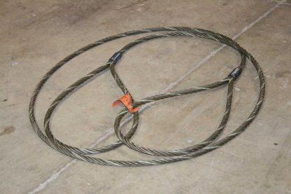 ASC Industries Steel Crane Wire Rope Sling 56 Vert Ton 34 Dia 18 Length Used 172512720309
