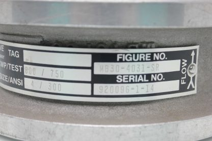 Gulf MB30 4031 SR 4 Stainless Butterfly Valve ANSI 300 Flange New other see details 183775650819 11