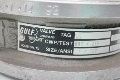 Gulf MB30 4031 SR 4 Stainless Butterfly Valve ANSI 300 Flange New other see details 183775650819 3