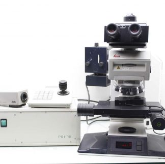 Leica DMRXE Laser Microscope w Prior Controller Unit and JVC Video Camera Used 183801148219