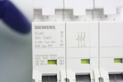 New Siemens 5SJ4 340 8HG41 Circuit Breaker 3 Pole 40A 240V AC New other see details 171866224437 9
