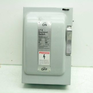 Siemens I T E F351 Enclosed Fusible Disconnect Switch 30 Amp 600VAC 3 Pole Used 173117141399