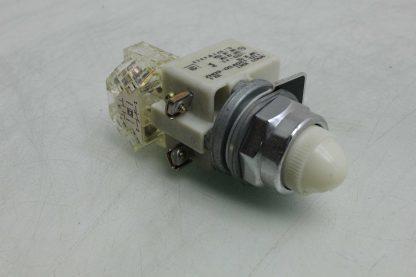Square D 9001 KM1 30mm White Pilot Indicator Light 110 120V AC Used 172502018569 16