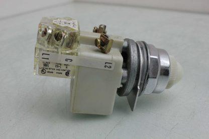 Square D 9001 KM1 30mm White Pilot Indicator Light 110 120V AC Used 172502018569 17