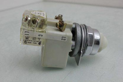 Square D 9001 KM1 30mm White Pilot Indicator Light 110 120V AC Used 172502018569 3