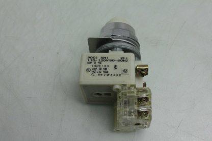 Square D 9001 KM1 30mm White Pilot Indicator Light 110 120V AC Used 172502018569