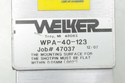 Welker WPA 40 123 Pneumatic Shot Pin Clamp Assembly 123mm Travel 40mm Bore Used 172644653139 3